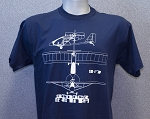 RANS® 3-View T-Shirt, S-17 (Navy Blue)